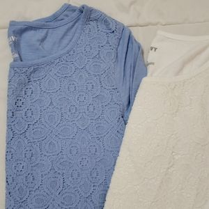2 Old Navy 3/4 Sleeve Shirts Med & Lrg!